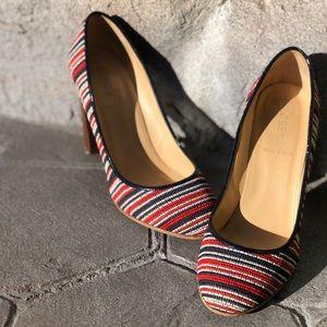 J. Crew fabric heels